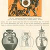 Schwarzfigurige Amphora des Exekias.  Herakles kampf gegen den dreileibigen Geryoneus über dem gefallenen Eurytion ; Panathenäische Preisgefäße mit dem Bilde der Athena Polias