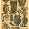 Edad antigua.  Objetos de ceramica Griegos.