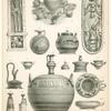 Fig. 1,2 et 3. Position des vases dans les tombeaux ; Fig. 4 à 14. Vases grecs dits Tyrrheniens