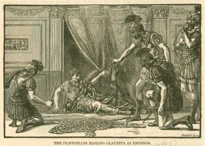 The Praetorians hailing Claudi... Digital ID: 1624733. New York Public Library