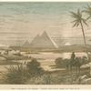 The pyramids of Gizeh.  From the east bank of the Nile.