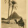 Cairo.  Beduin praying near the pyramyd [sic.] of Guizeh.