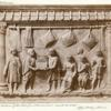Interior of the shop of a cloth merchant (marble bas-relief).