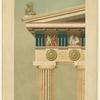 Section of Parthenon entablature and column (reconstruction)