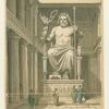 Zeusstatue im Tempel zu Olympia.