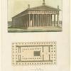 Pianta ed elevazione del Tempio di Giove Olimpico.