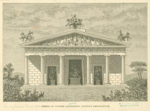 Temple of Jupiter Capitolinus (Canina's restoration).