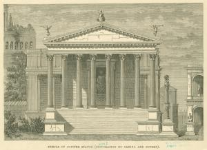Temple of Jupiter Stator (restoration by Canina and Dutert).