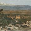 Vue générale de l'Acropole et d'une partie de la ville de Baalbek.