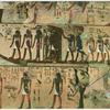 Thebes.  Valley of the tombs of the kings.  Paintings in the tomb No 17 of Seti I.