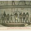 Thebes.  Wall picture in the tomb of Rhamses IX.