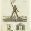 Der Coloss zu Rhodus ; der olympische Jupiter ; der Dianen-Tempel zu Ephes.