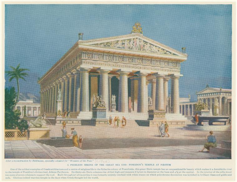 A peerless shrine of the great sea god: Poseidon's temple at Pæstum.
