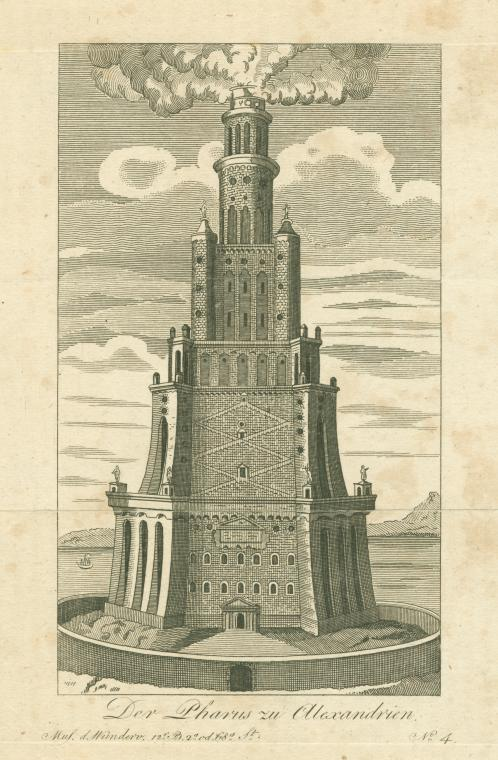 This is What Johann Bernhard Fischer von Erlach and The Pharos of Alexandria Looked Like  in 1803