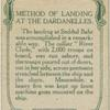 Method of landing at the Darndanelles.