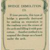 Bridge demolition.