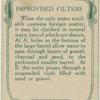 Improvised filters.