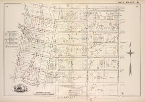 Vol. 1. Plate, H. [Map bound by Atlantic Ave., New York Ave., Butler St., Park Pl., Franklin Ave.; Including Pacific St., Dean St., Bergen St., St. Marks Ave., Prospect Pl., Bedford Ave., Rogers Ave., Nostrand Ave.]