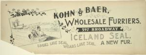 Kohn & Baer, wholesale furriers, 597 Broadway.