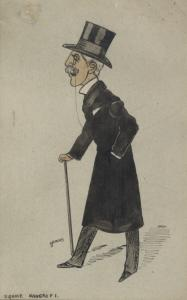 Caricature by Sir Squire Bancroft.