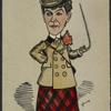 Caricature of Fanny Brough (Julia Marlowe) in Prodigal Daughter.