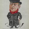 Caricature of Herbert Campbell in Keep It Dark.