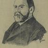 Caricature of Francis Darwin.