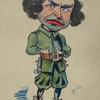 Caricature of W. H. Denny in Yeoman of the Guard.
