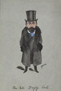 Caricature of Richard D'Oyly Carte.