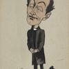 Caricature of Sir Johnston Forbes-Robertson.