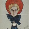 Caricature of Edna May.