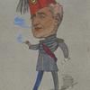 Caricature of Harry Nicholls.