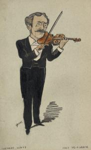 Caricature of Clement Scott.
