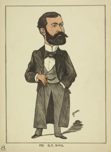 Caricatures of George Robert Sims.