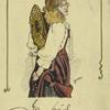 Autographed caricature of Ellaline Terris.