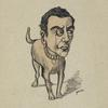 Caricature of unidentified actor.