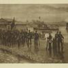 A.I.Vladimirov. Desant Kronshtadskikh matrosov v Oktiabr'skie dni v Petrograde. 1917.