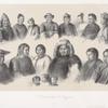 Zhiteli beregov Amura: 1. Maniagrskaia zhenshchina; 2. Maniagrskaia devushka; 3. Maniagrskii mal'chik; 4. Maniagrskii vzroslyi; 5. Starshina iz plemeni maniagrov; 6. Mandzhurskaia zhenshchina; 7. Mandzhurskii chinovnik; 8. Tuzemets iz tungusskago plemeni, zhivushchago pri ust'e reki Sungari; 9. Goldii; 10. Goldii; 11. Gol'dskaia zhenshchina; 12. Gol'dskiia deti; 13. Mangun ; 14. Giliachka; 15. Giliak.