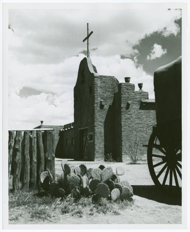 [Replica of the original Fort Bliss]