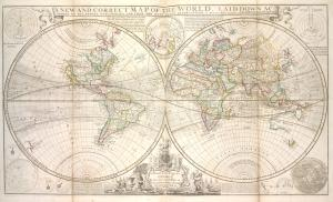 A new and correct map of the world, laid down according to the newest discoveries, and from the most exact observations.