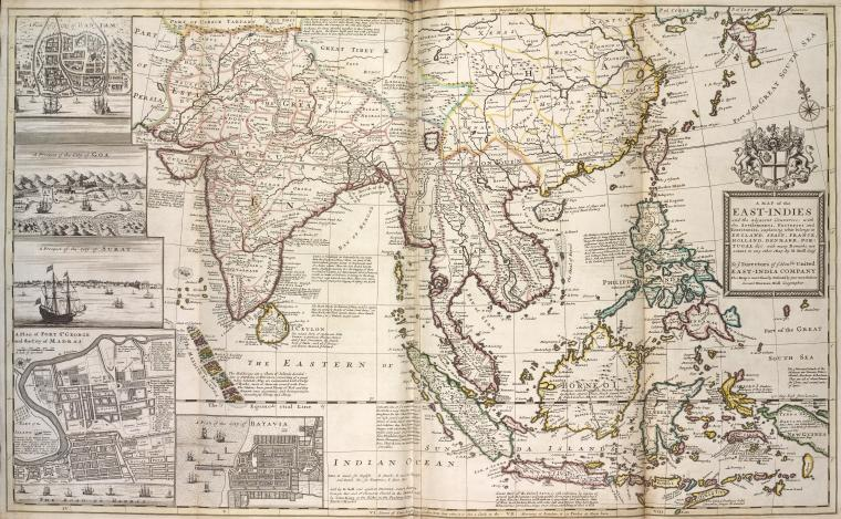 This is What Herman Moll and East-Indies Looked Like  in 1736