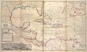 A map of the West-Indies or the Islands of Ameirca in the North Sea, with ye adjacent countries ...