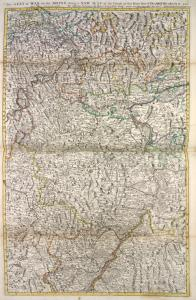 The seat of war on the Rhine being a new map of the course of that river from Strasbourgh to Bonn with the adjacent countries. / ... by Monsr. G. de L'Isle, geogr.