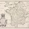 A new map of France, shewing its principal divisions, cheif cities, townes, ports, rivers, mountains &c.