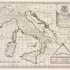 A new map of present Italy, together with the adjoyning islands of Sicily, Sardinia, and Corsica, shewing their principal divisions, cities, towns, rivers, mountains &c.