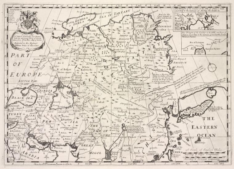 A new map of Great Tartary, and China, with the adjoyning part of Asia, taken from Mr. de Fer's map of Asia.