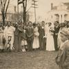 Gypsy wedding, Suffolk, Virginia. Wedding party with boy in foreground