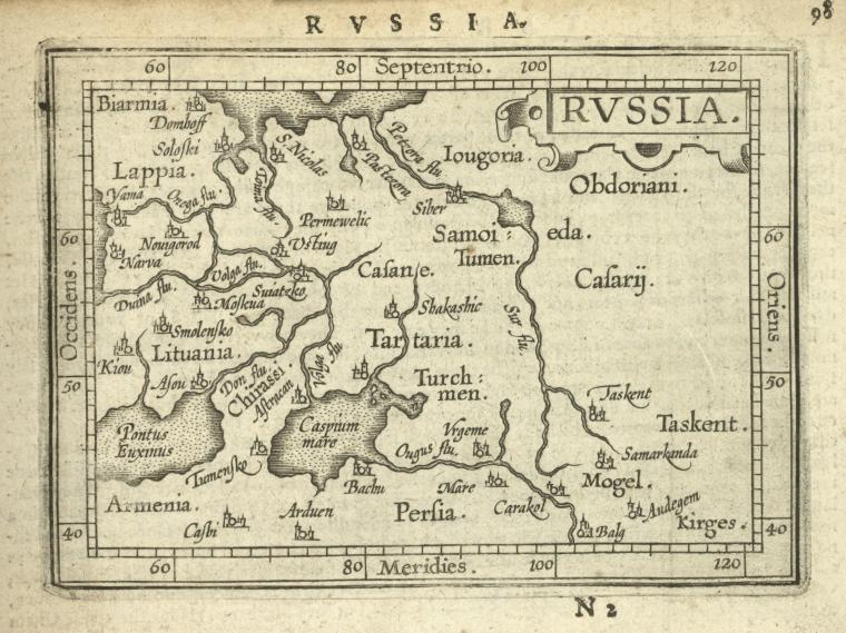 This is What Abraham Ortelius and Russia Looked Like  in 1603