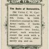 Duke of Devonshire.