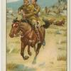 Major E. D. Brown, 14th Hussars winning the V.C. at Geluk, South African War, 1900.